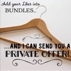 Add you likes to a bundle & receive a offer!